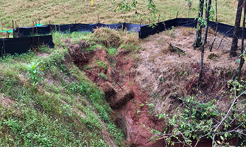 Upstate Forever monitoring discovers dangerous gully forming along pipeline in Spartanburg