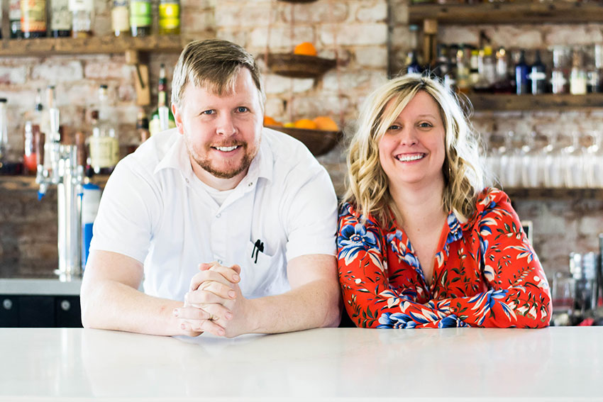 Greg and Beth McPhee are co-owners of The Anchorage in West Greenville. (Photo by Anthony Milian)