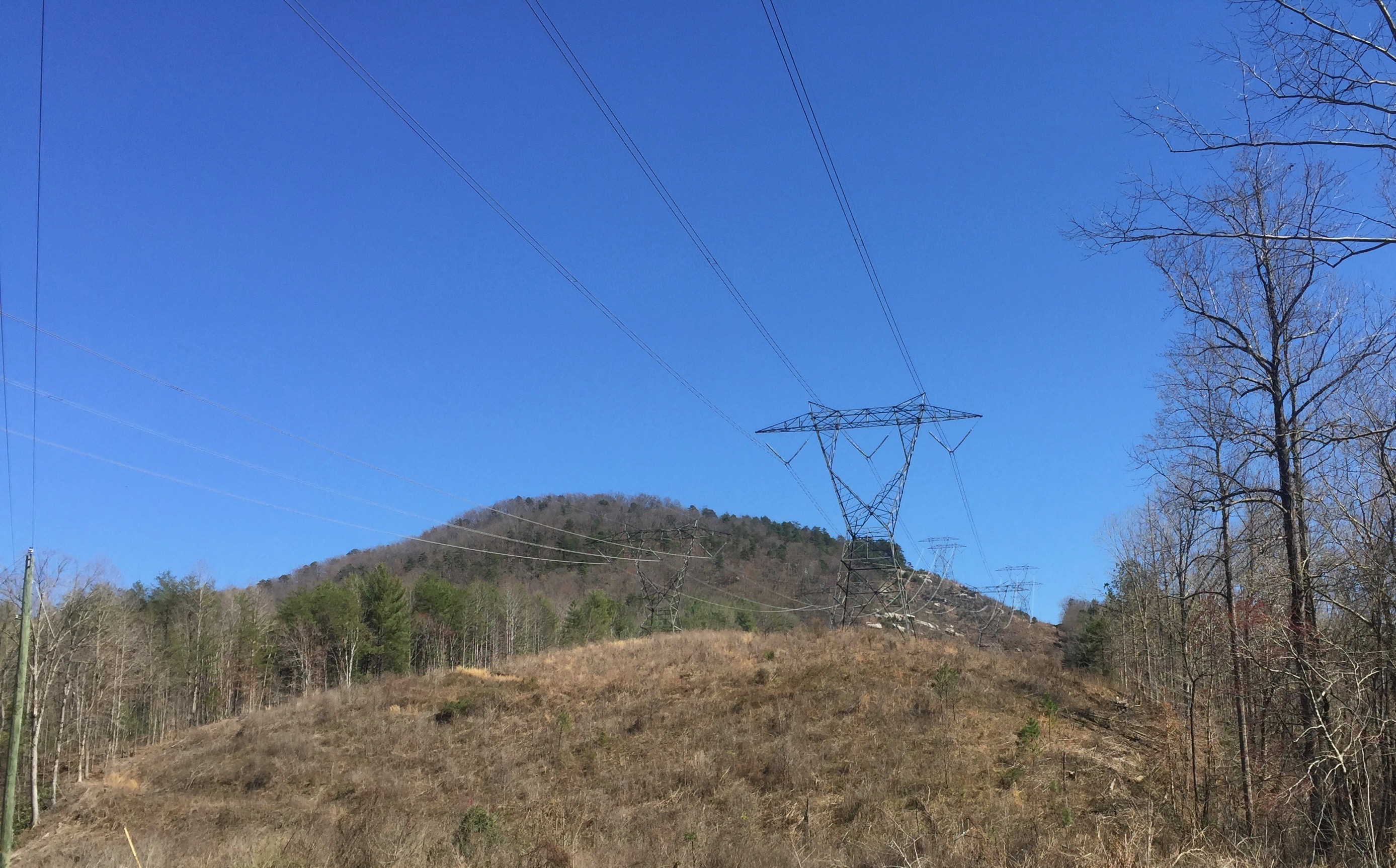Duke Energy transmission lines serving Oconee Nuclear Station in Pickens County