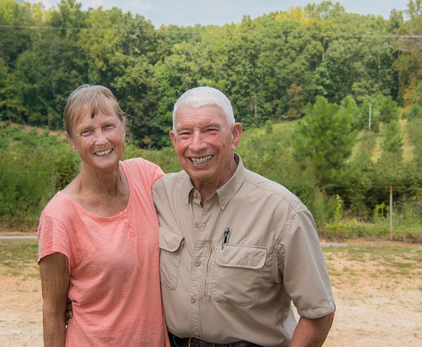 Walker and Ann Miller of the Happy Berry Farm (Photo by Mark Suskow)