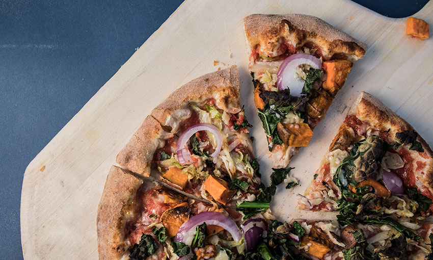 Veggie Pizza at Swamp Rabbit Cafe and Grocery (Jack Robert Photography)
