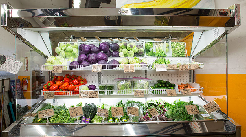 Produce at Swamp Rabbit Cafe and Grocery (Jack Robert Photography)