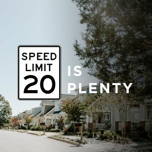 "Upstate Forever asks Greenville City Council to adopt ""20 is Plenty"""